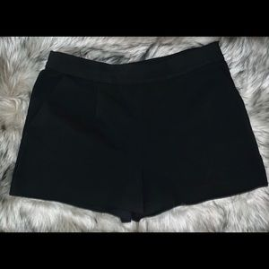 Forever 21 Black Dress Shorts with side zipper.